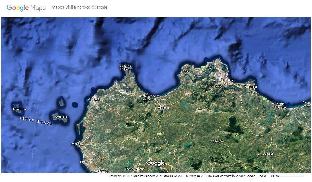Google Maps Sicilia nord-occidentale